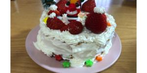 完成したケーキの裏